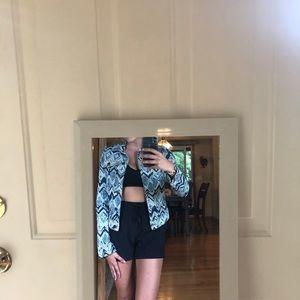 Macy's Jean jacket hippie print